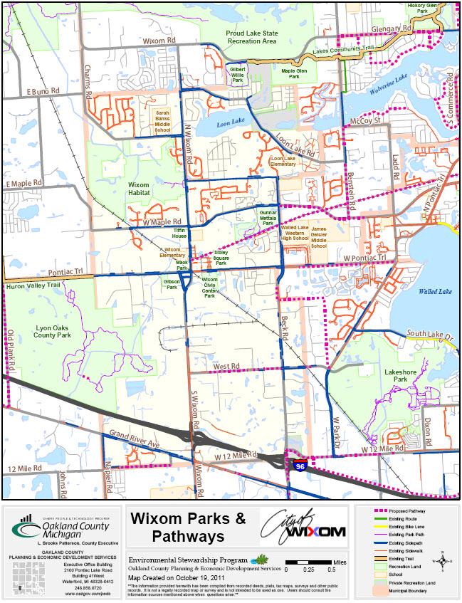 Parks and pathways map