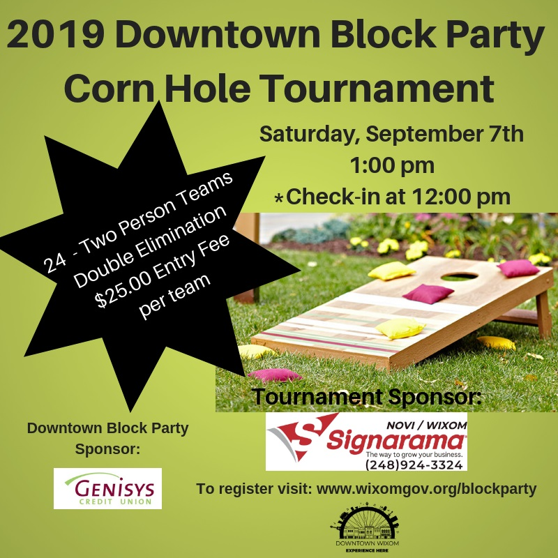 2019 Corn Hole Tourney Graphic - Social Media