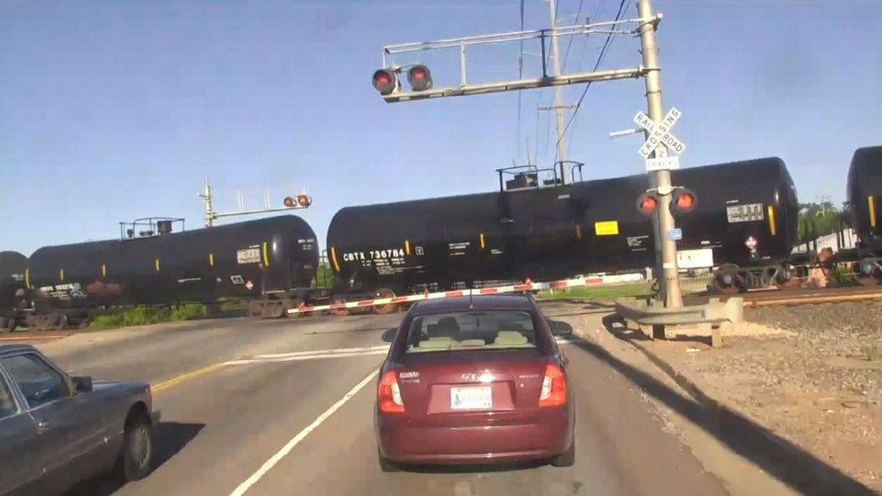 Blocked Railroad Crossing